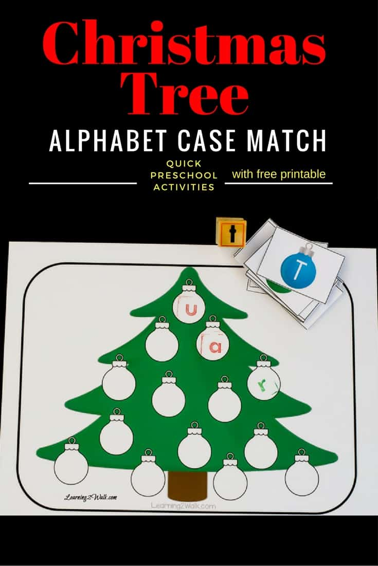 Colorful, Quick and Easy Christmas Tree Alphabet Stamping