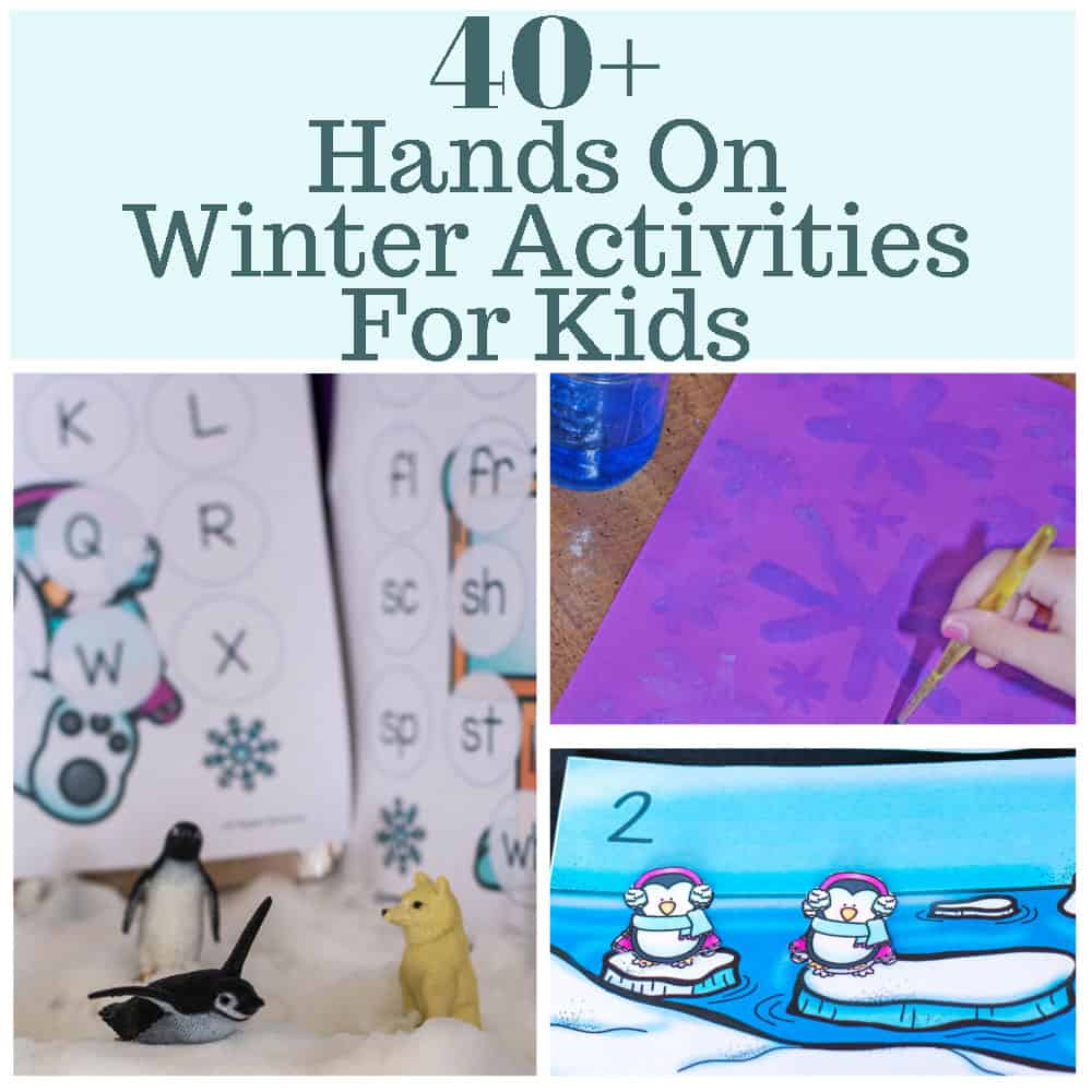 Winter brings with it great opportunities to embrace the cold! If you are looking for a few free fun winter activities for kindergarten that are hands on, try a sensory bin or some hands-on math! #freewinteractivitiesforkindergarten #freefunwinteractivitiesforkindergarten
