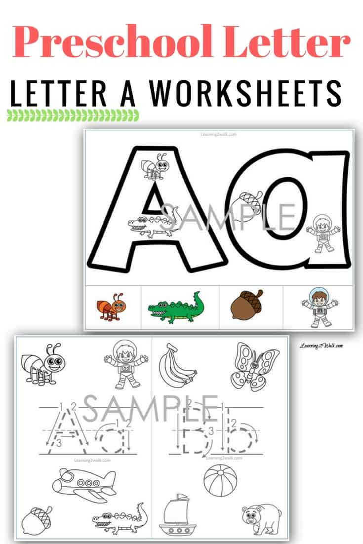 Preschool Letter A Worksheets Sample Pages