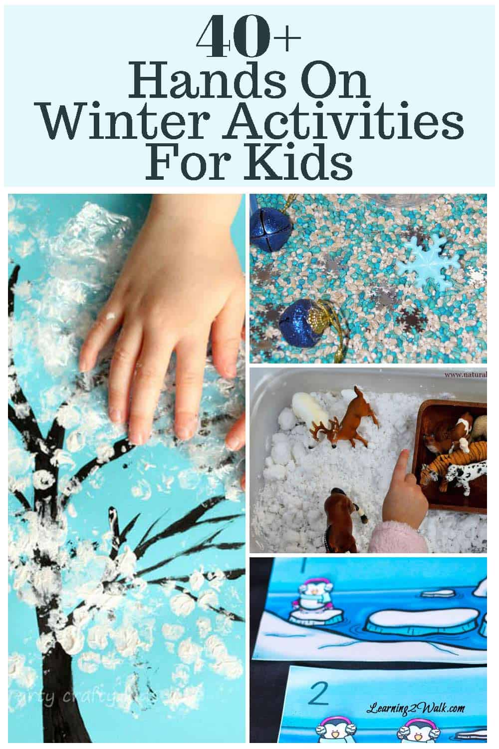 Winter brings with it great opportunities to embrace the cold! If you are looking for a few winter activities for kids that are hands on, try a sensory bin or some hands-on math!