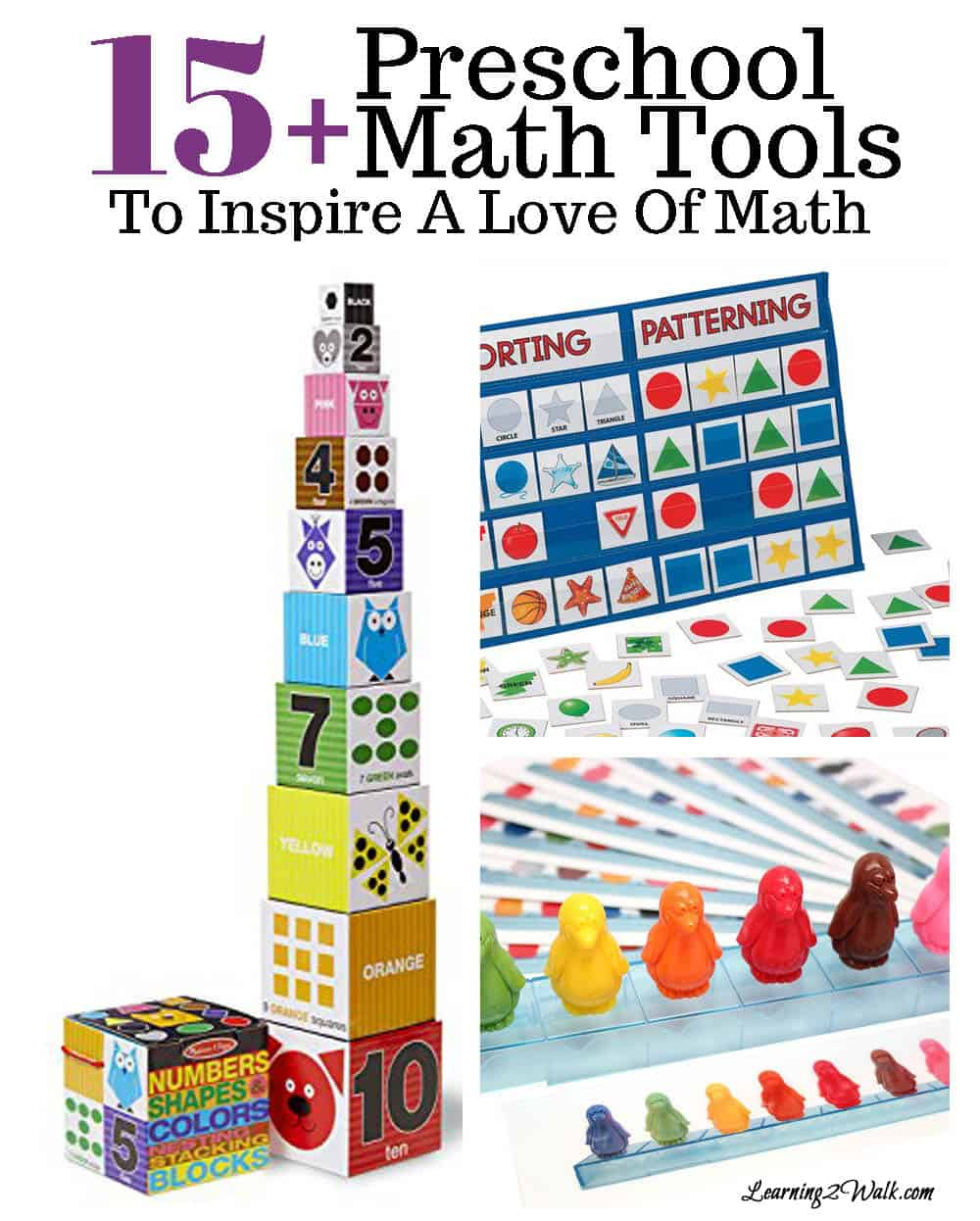 Who says that your child's introduction to math has to be boring? These fun preschool math tools are sure to inspire a lifetime of learning !!!!