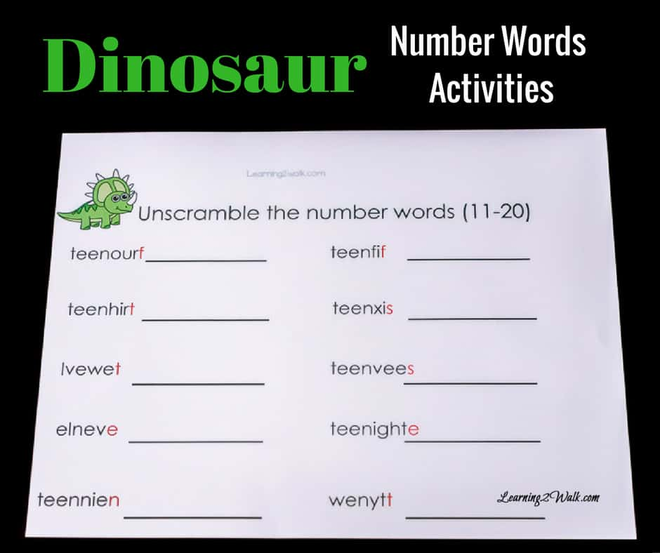 Who says learning number words should be hard? Try these 2 absolutely easy dinosaur number words activities with your child today!