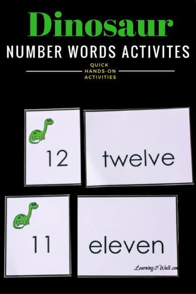 2 Absolutely Helpful and Easy Dinosaur Number Words (11-20) Activities