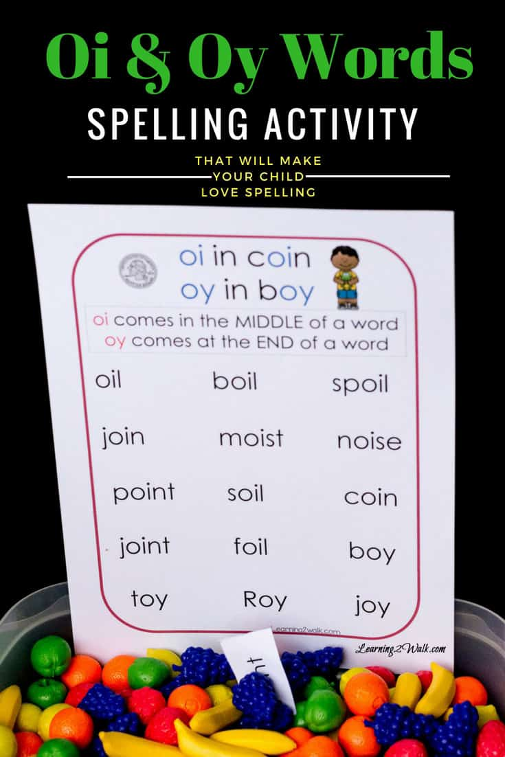Ever dread teaching your child or student how to spell? How about teaching them the difference between oi and oy words? Try this fun hands-on activity.