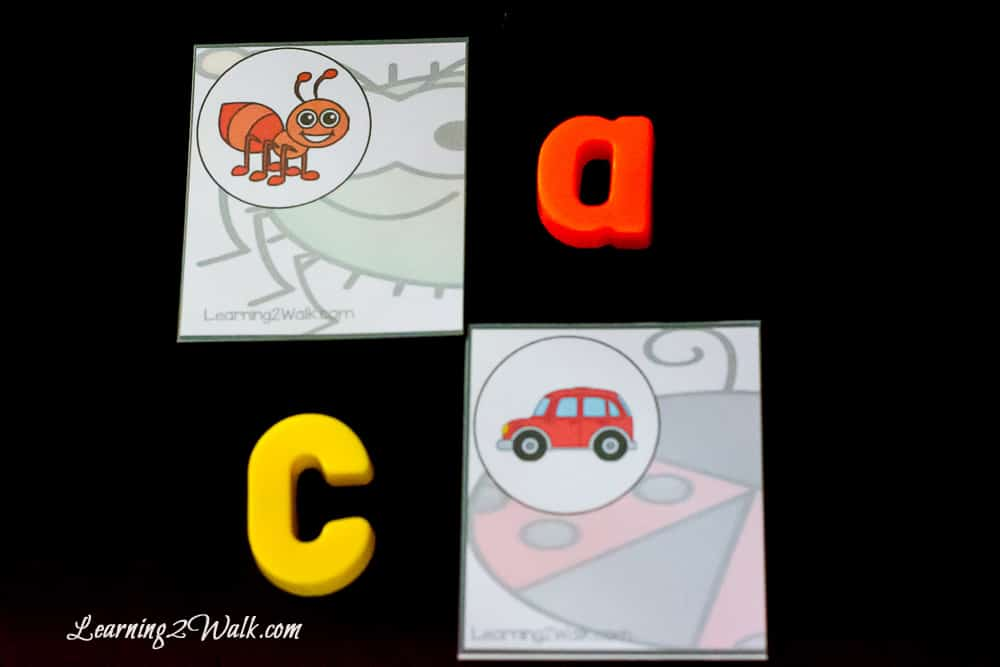 This easy prep, hands-on bug letter sounds puzzles were perfect for my son. He was able to work on identifying initial sounds all while having fun.