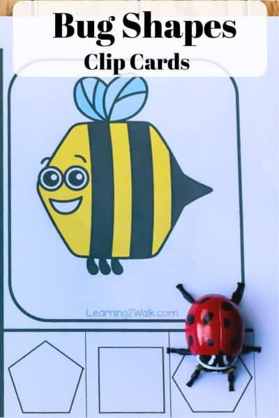 Quick and Easy Bug Shape Clip Cards