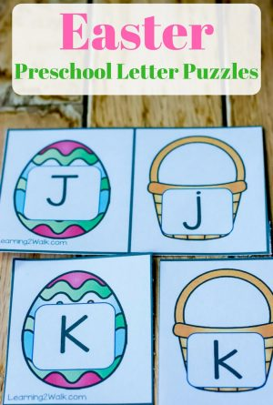 Colorful Easter Preschool Letter Puzzles