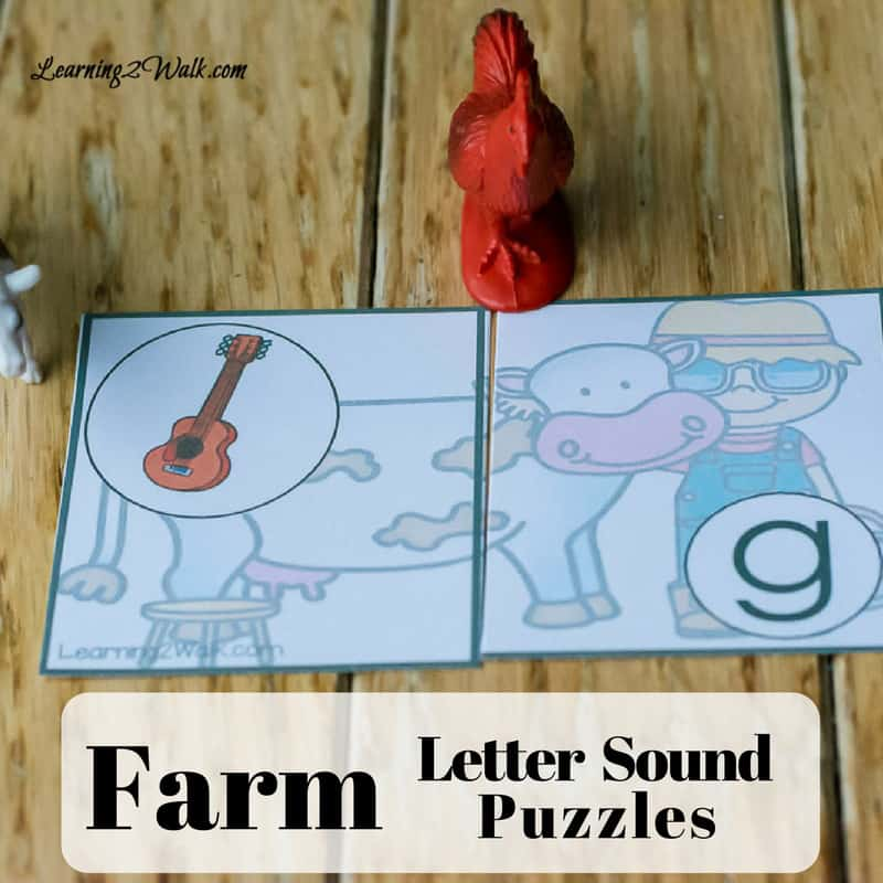 This farm letter sound pack will definitely help your child with identifying letter sounds. It's fun and so easy to put together, oh and it's hands-on!