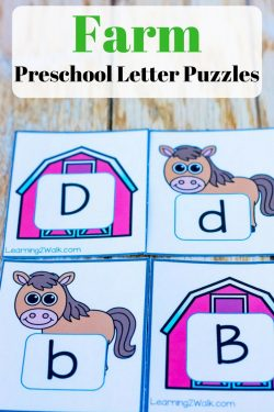These farm preschool letter puzzles are perfect if you want some hands-on and fun learning for your kids. Just watch them learn their alphabet and enjoy it!