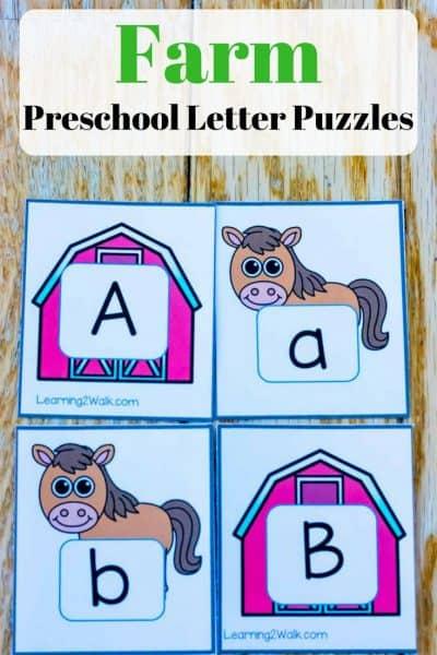 Farm Alphabet Puzzles