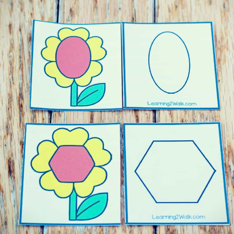 These spring shapes matching puzzles are great for helping your kids recognize the different shapes around them. Definitely, a fun hands-on way to learn.