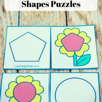 Spring Shapes Matching Puzzles