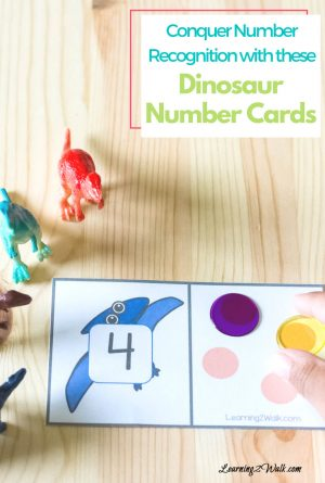 Conquer Number Recognition With These Dinosaur Number Recognition Cards