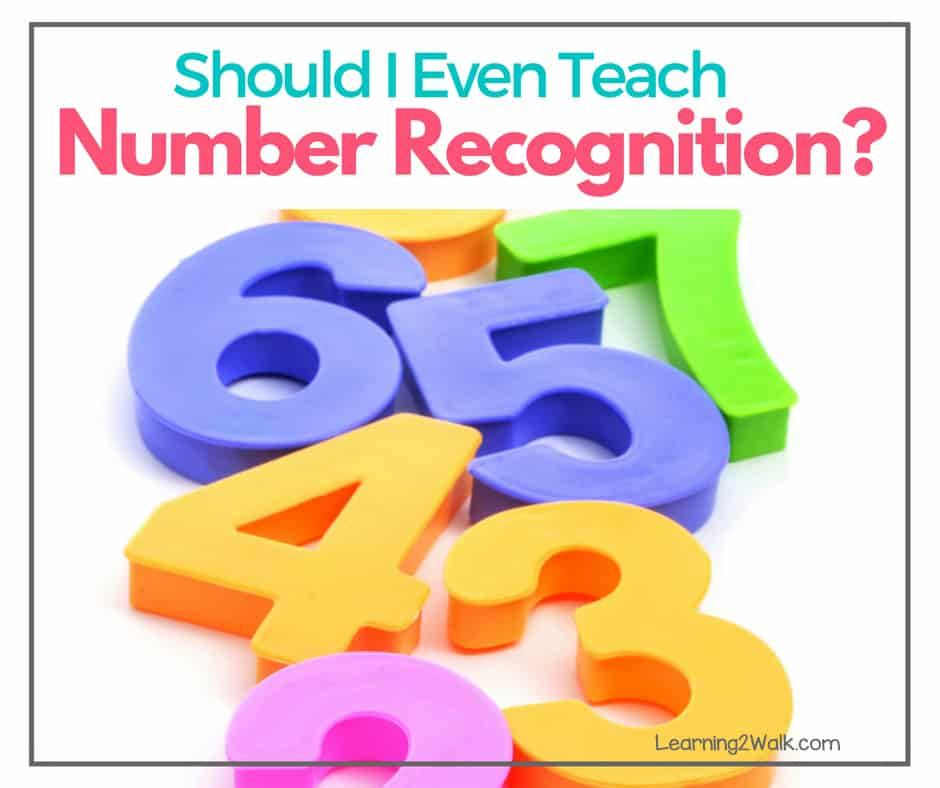 What's the big deal with number sense? Should I even take the time to teach number recognition to my kids? The answer is YES!!