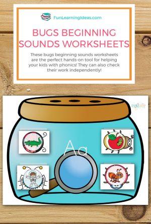 Bugs Beginning Sounds Worksheets