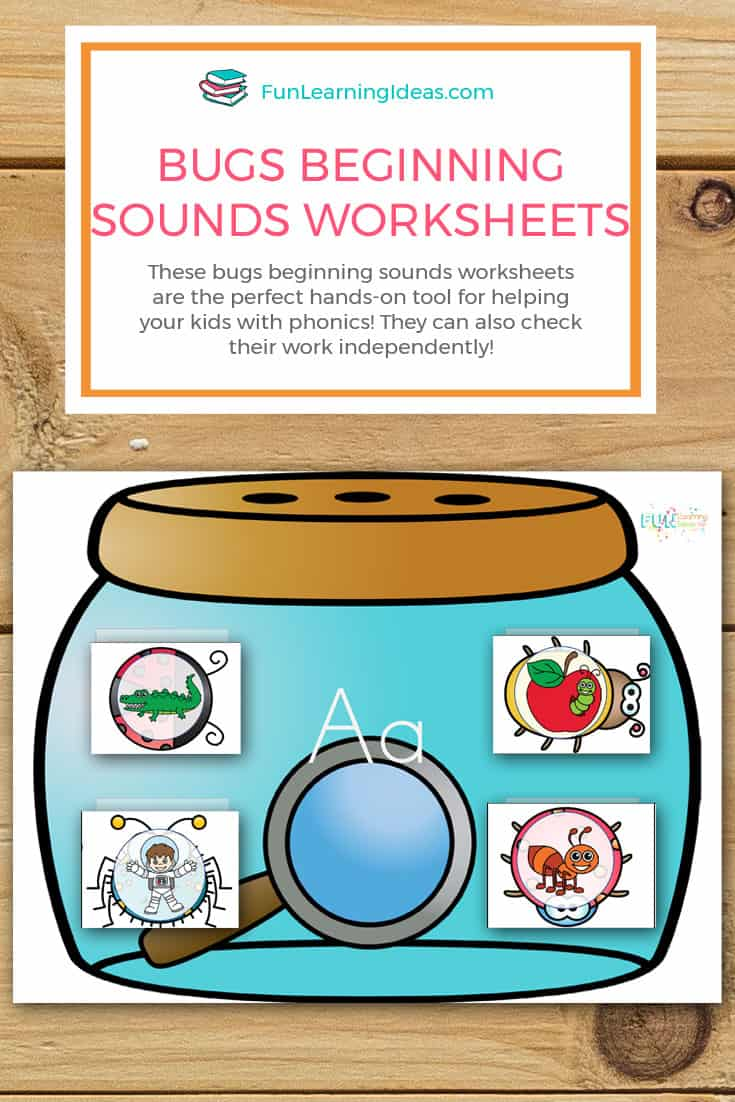 These bugs beginning sounds worksheets are the perfect hands-on tool for helping your kids with phonics! They can also check their work independently!