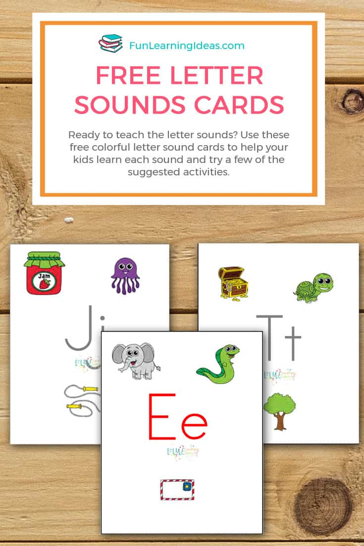 Ready to teach the letter sounds? Use these free colorful letter sound cards to help your kids learn each sound and try a few of the suggested activities.