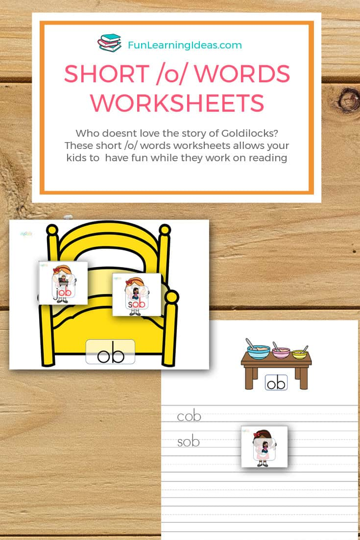 Who doesnt love the story of Goldilocks? These short /o/ words worksheets allows your kids to have fun while they work on reading
