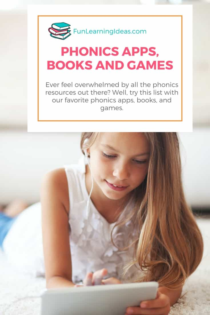 Ever feel overwhelmed by all the phonics resources out there? Well, try this list with our favorite phonics apps, books, and games.