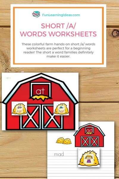 Farm Hands-On Short /A/ Words Worksheets