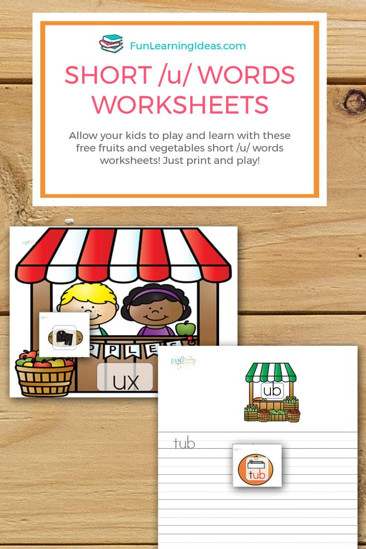 Worksheets Short U Worksheets fruits and vegetables short u words worksheets allow your kids to play learn with these free u