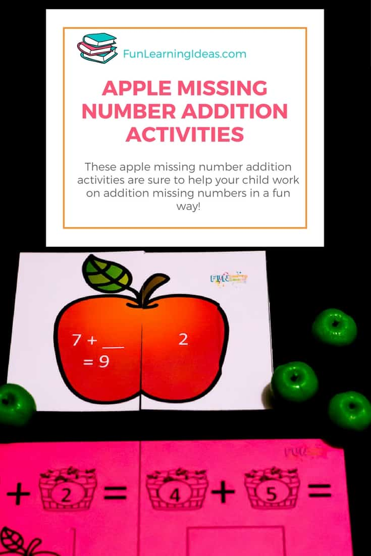 These apple missing number addition worksheets were the perfect help! So I called them worksheets but they are really apple cards and apple puzzles- but oh well. They were so easy to use and hands-on. Huge hit