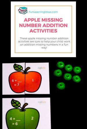 Apple Missing Number Addition Activity