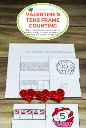 Valentine's Tens Frame Activity