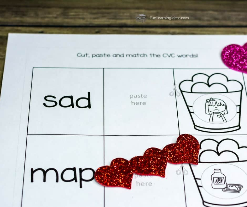 These Valentine cvc words worksheets were the perfect addition to our eyfs kindergarten curriculum. Practice your cvc words with these fun hands-on activities