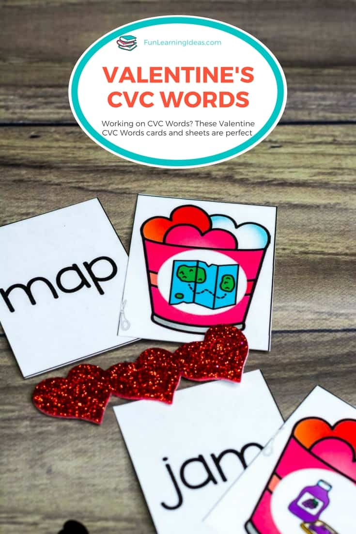 these valentine cvc words activities are perfect for helping your child learn to read. The bonus is that its also a quick prep resource!