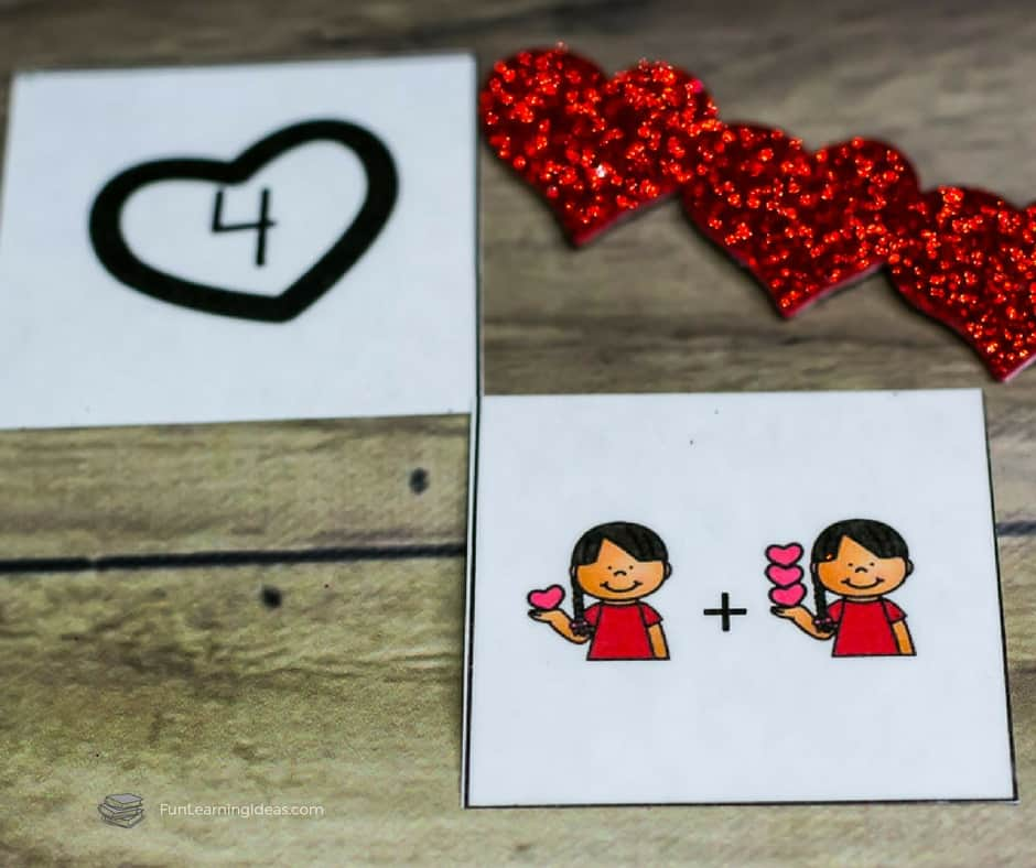 Need a few free simple addition activities to supplement your eyfs curriculum? Or maybe you just want to find a few hands-on simple addition worksheets for your kindergarten student? Try these Valentine Simple Addition activities!