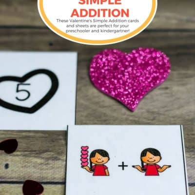 Valentine's Simple Addition for Kids