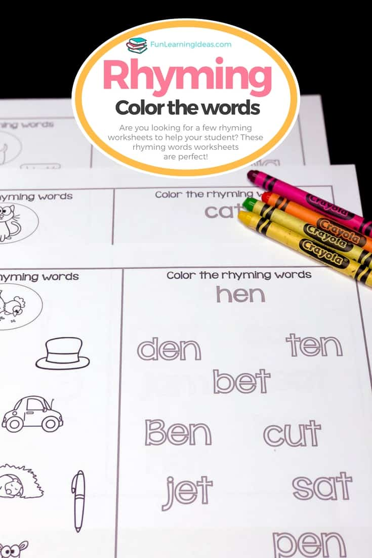 - Color The Rhyming Words: Hands On Rhyming Worksheets