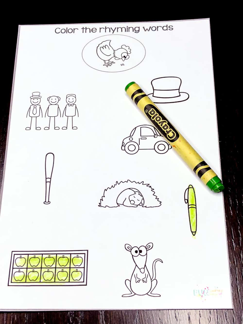These rhyming worksheets are perfect for helping your kids! Simply print and choose the level that works best