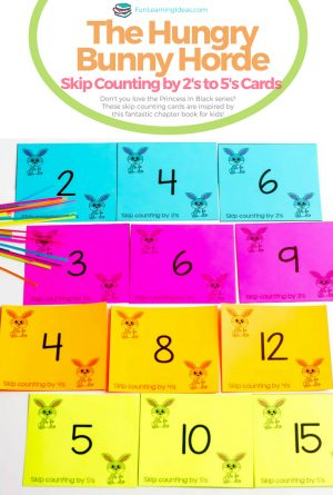 Skip Counting Cards for The Princess in Black- The Hungry Bunny Horde