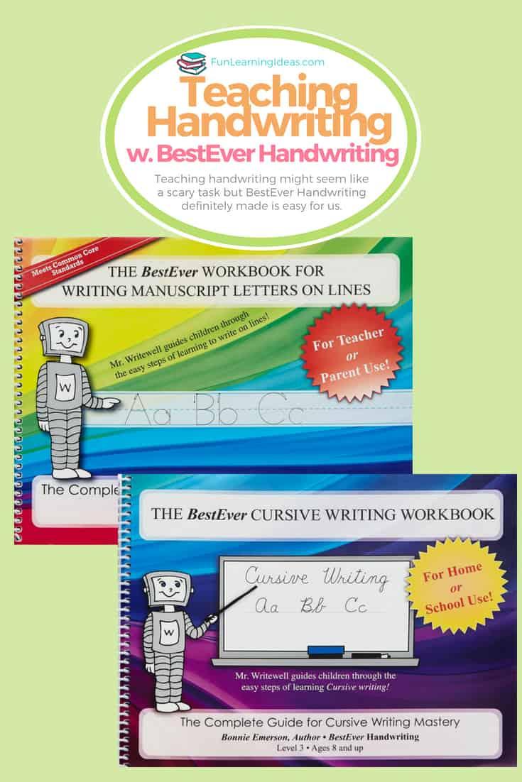teaching handwriting with BestEver handwriting