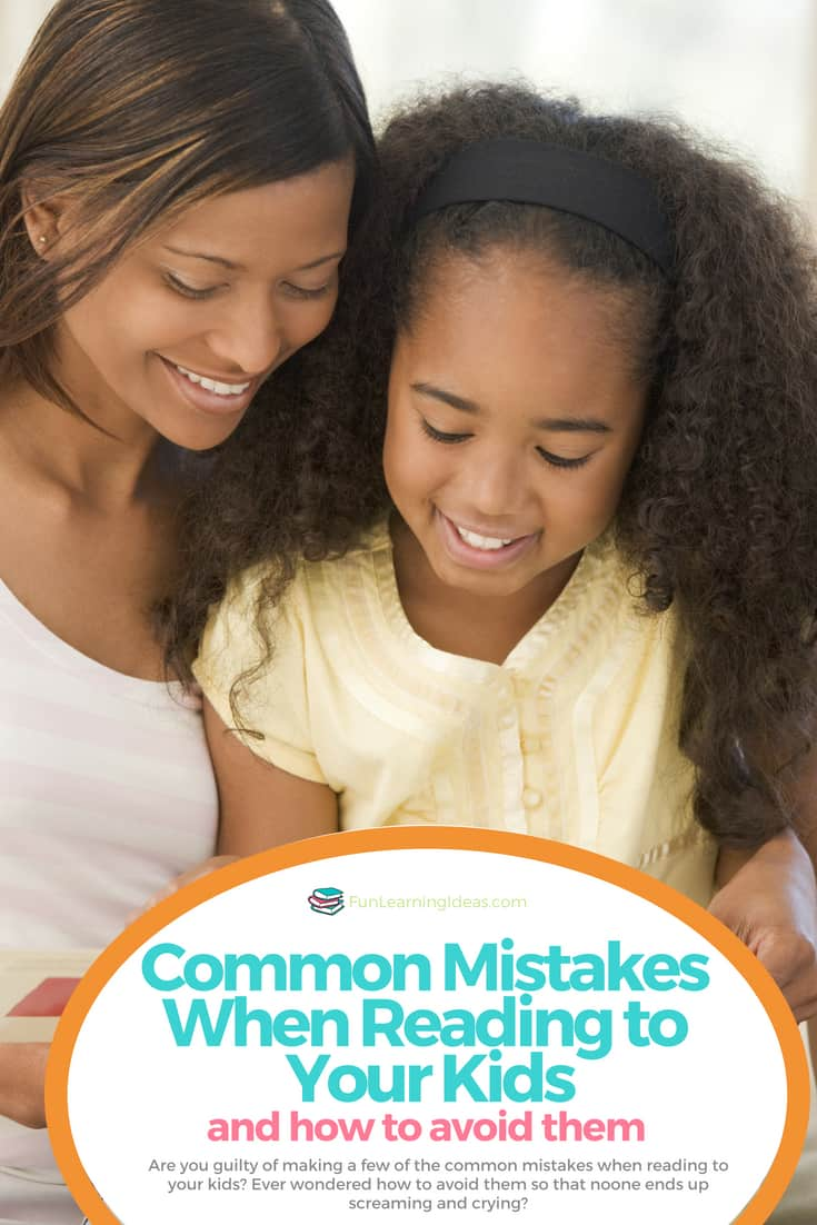 Are you guilty of making a few of the common mistakes when reading to your kids? Ever wondered how to avoid them so that noone ends up screaming and crying?