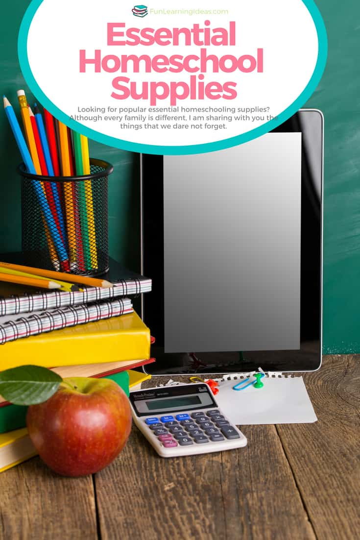 Looking for popular essential homeschooling supplies for small spaces? Although every family is different, I am sharing with you the homeschool supplies that we use in our small space