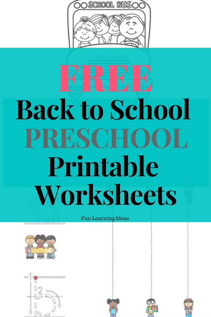 Free Hands On Back To School Preschool Printable Worksheets
