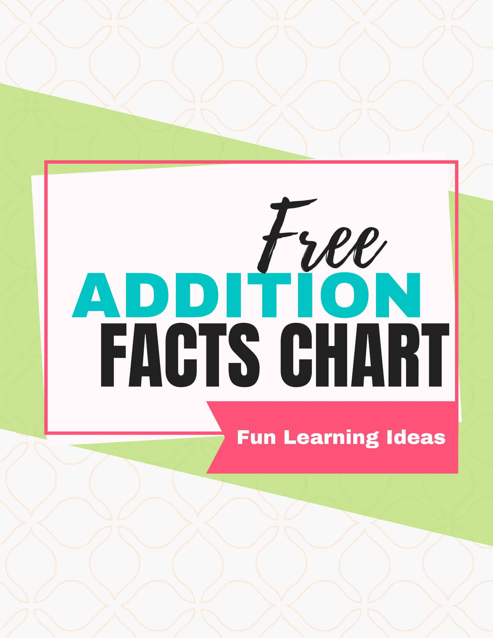 Teaching your kids how to add is downright intimidating. Do they add with their fingers? Use a calculator? Use this free printable addition facts chart with your kids - in fact print it for them! #additionfactsworksheetsfreeprintable #additionfactsfreeprintableworksheets
