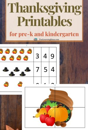 Free Thanksgiving Preschool Printable