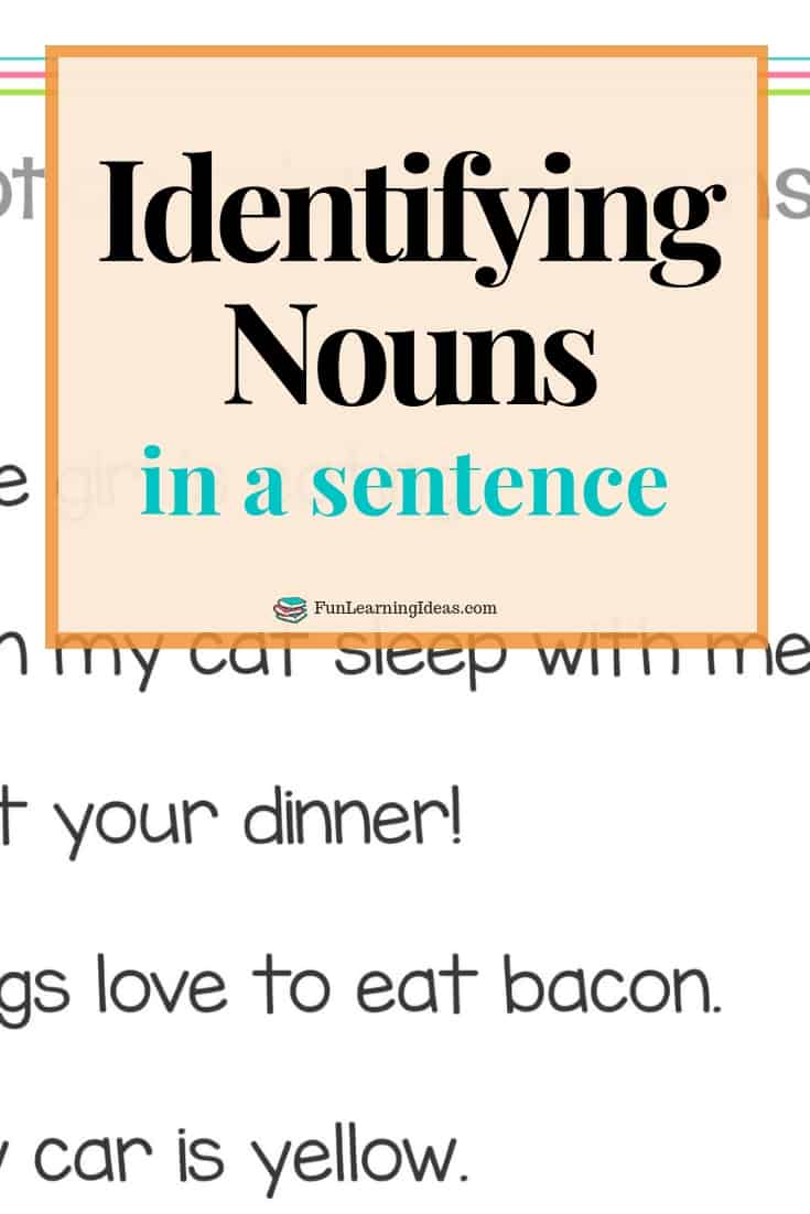 Trying to work on identifying nouns in a sentence? These nouns worksheets are sure to help #nounsworksheets #nounsinasentence