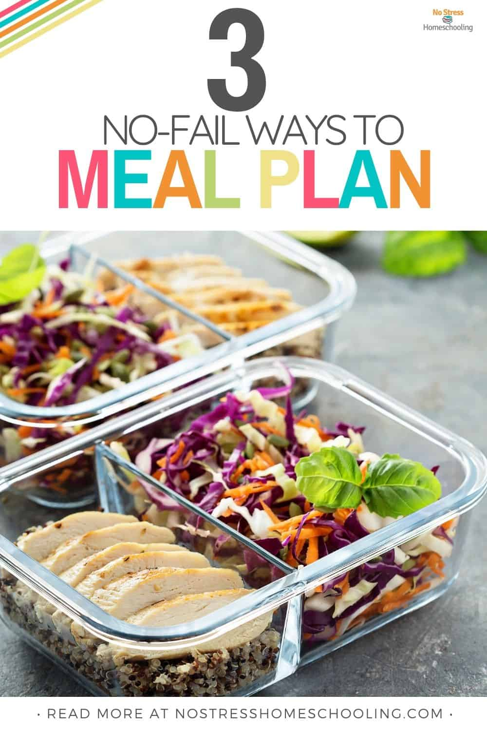 image of 3 no fail ways to meal plan