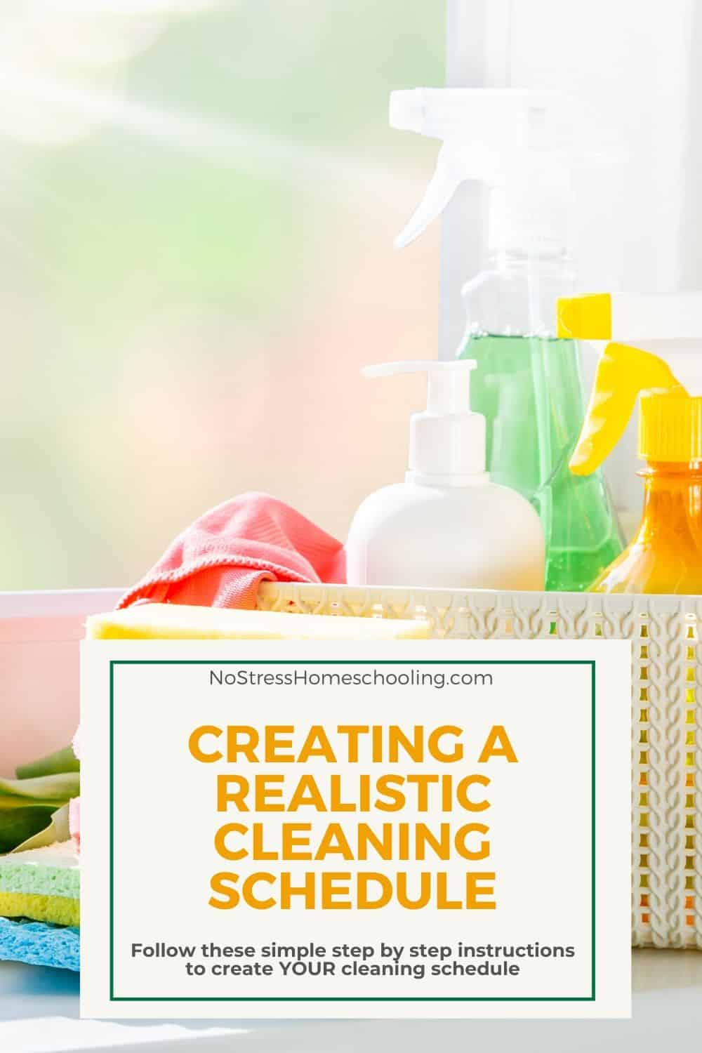 cleaning schedule for stay at home moms tips