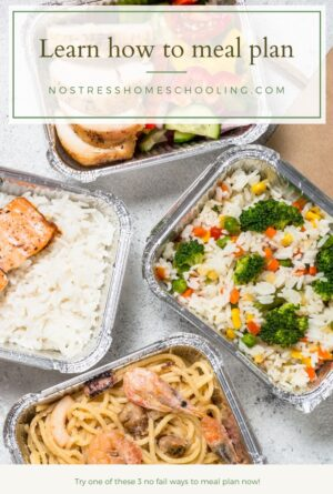3 No Fail Ways to Meal Plan