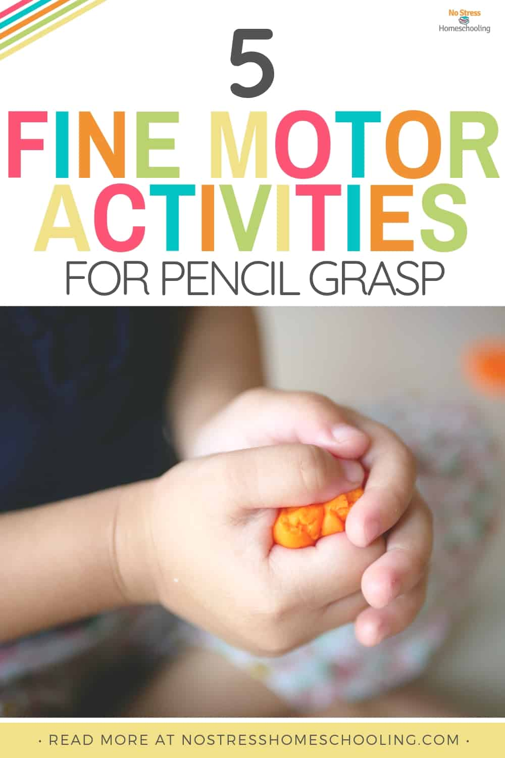 Looking for a few pencil grasp writing activities for your kids? These 5 fine motor activities are sure to help them develop proper pencil grasp.