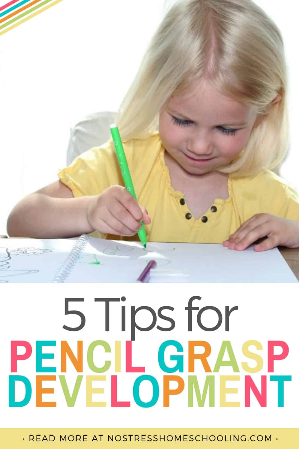 Pencil grasp development can seem so scary! Here are a few tips to help you equip your kids in learning how to write