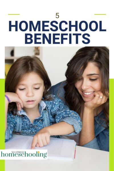 pic showing 5 homeschool benefits to read