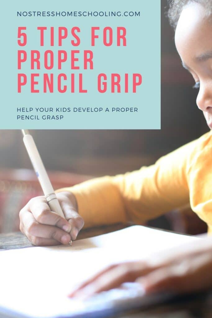 pic of 5 tips for proper pencil grip