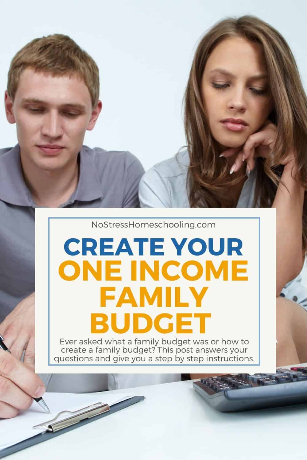 Ever asked what a family budget was or how to create a family budget? This post answers your questions and give you a step by step instructions.
